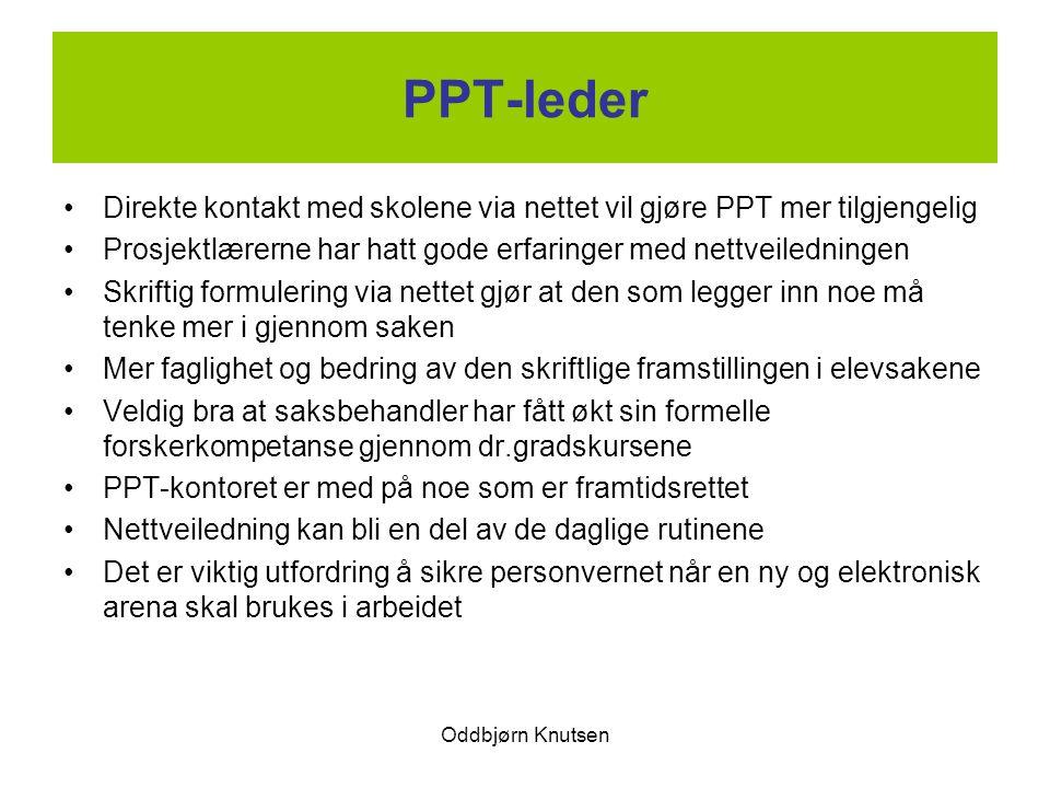 PPT-leder Direkte kontakt med skolene via nettet vil gjøre PPT mer tilgjengelig. Prosjektlærerne har hatt gode erfaringer med nettveiledningen.