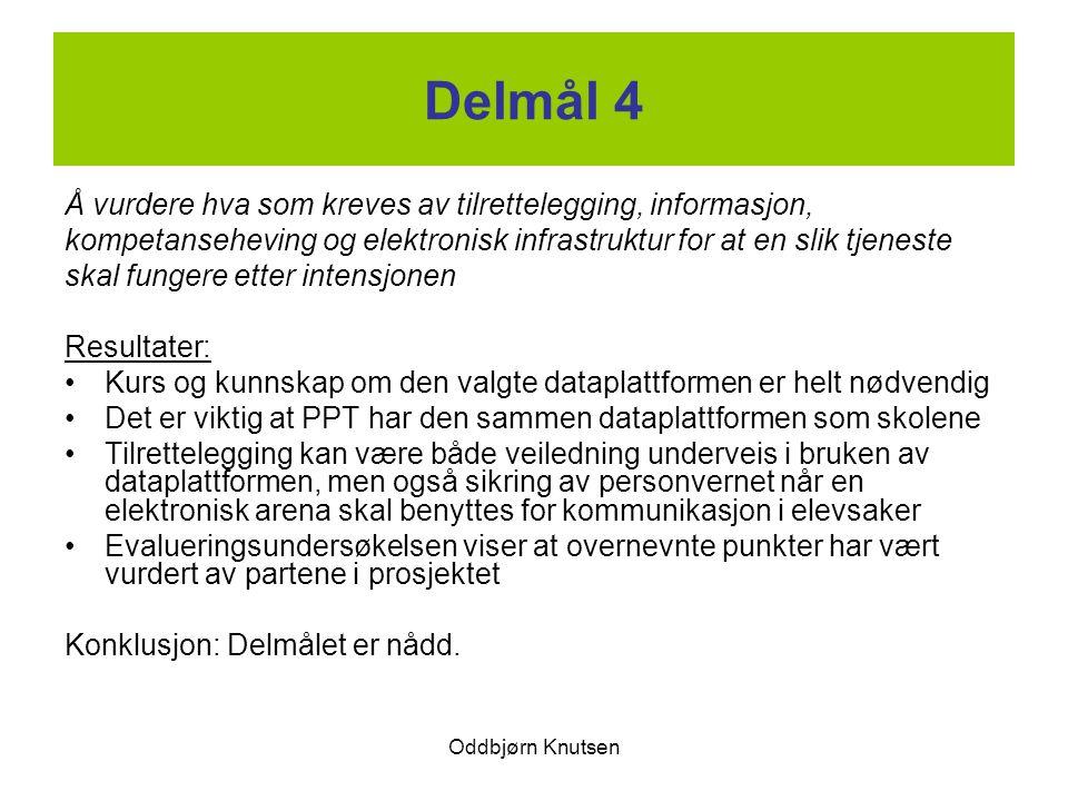 Delmål 4 Å vurdere hva som kreves av tilrettelegging, informasjon,