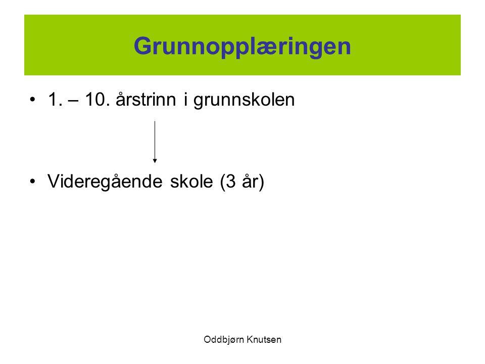Grunnopplæringen 1. – 10. årstrinn i grunnskolen