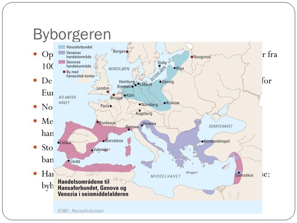 Byborgeren Oppsving for Venezia, Genova, Firenze og andre italienske byer fra 1000-tallet.