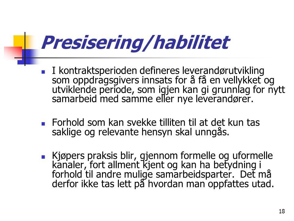 Presisering/habilitet