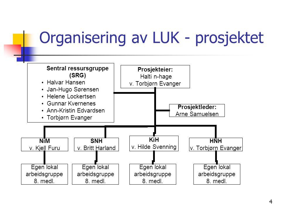 Organisering av LUK - prosjektet