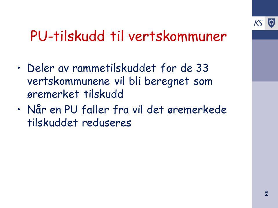 PU-tilskudd til vertskommuner