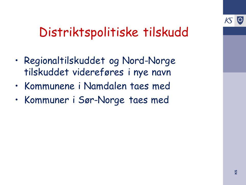 Distriktspolitiske tilskudd