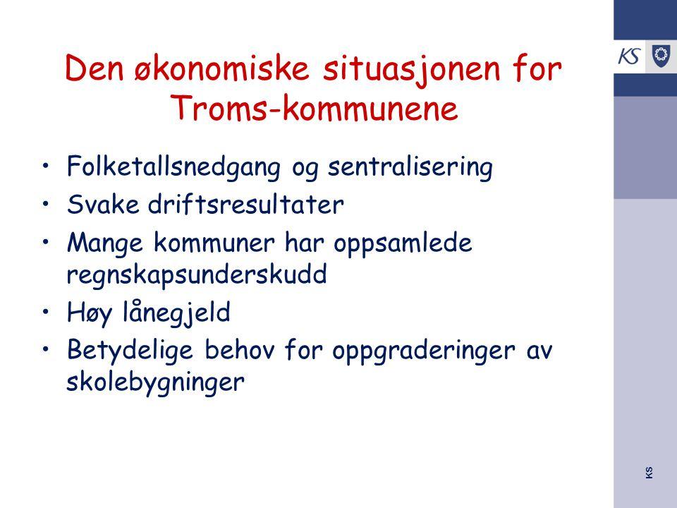 Den økonomiske situasjonen for Troms-kommunene