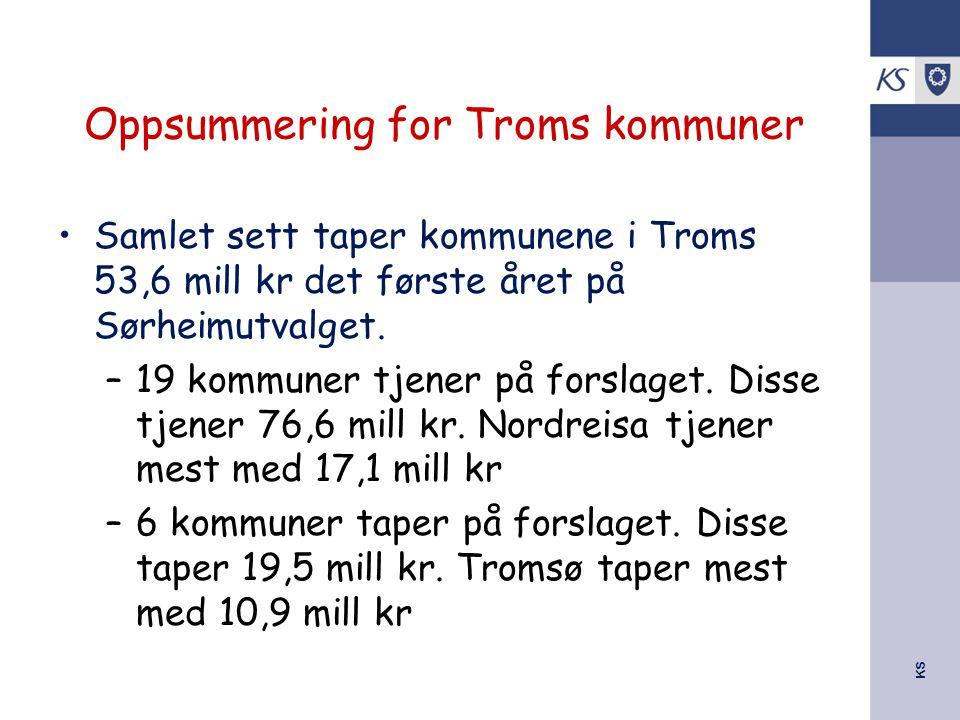 Oppsummering for Troms kommuner