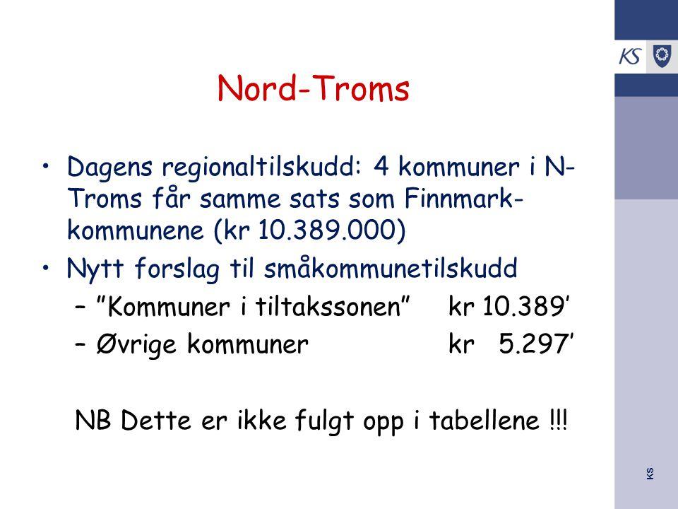 Nord-Troms Dagens regionaltilskudd: 4 kommuner i N-Troms får samme sats som Finnmark-kommunene (kr 10.389.000)