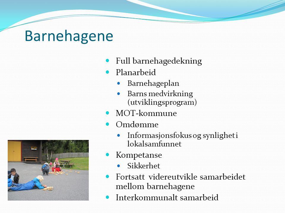 Barnehagene Full barnehagedekning Planarbeid MOT-kommune Omdømme