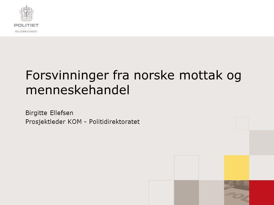 Forsvinninger fra norske mottak og menneskehandel