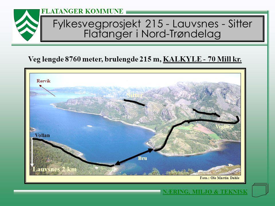 Fylkesvegprosjekt 215 - Lauvsnes - Sitter Flatanger i Nord-Trøndelag