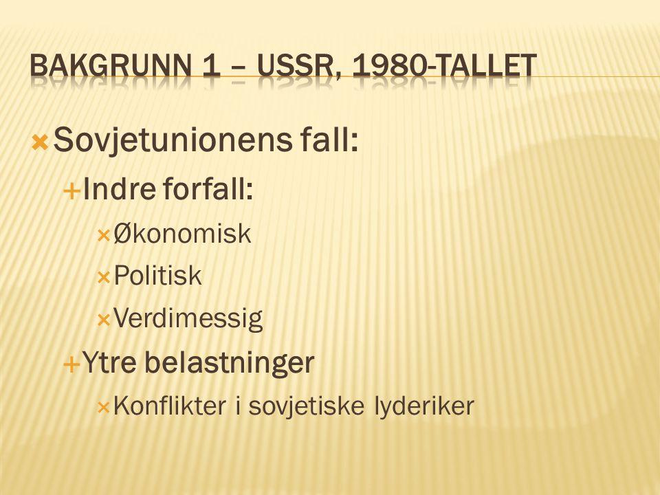 Bakgrunn 1 – USSR, 1980-tallet