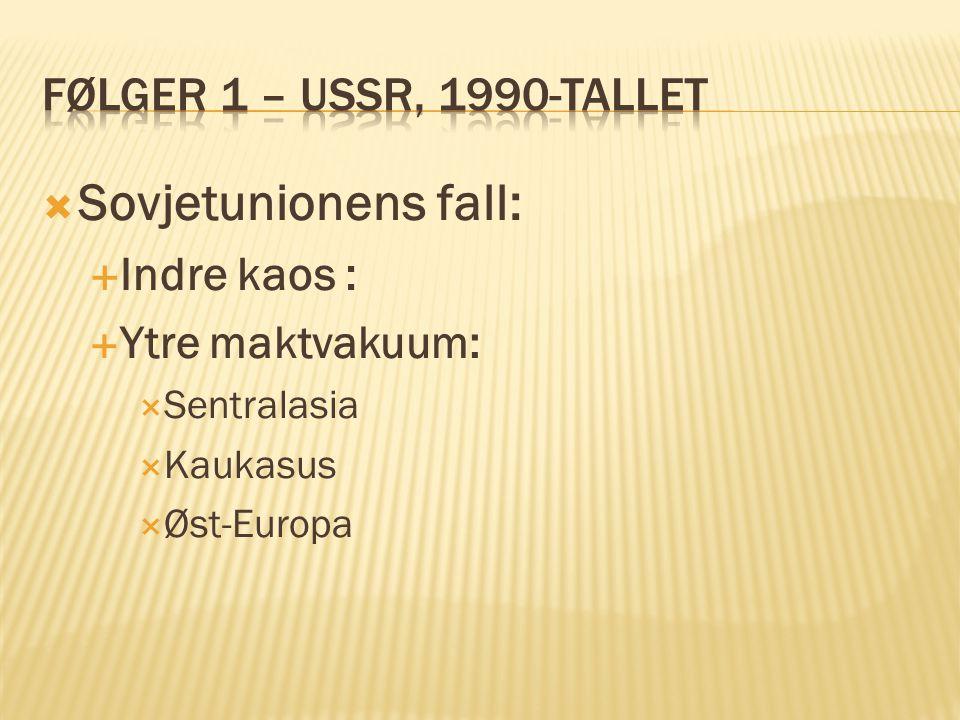 Sovjetunionens fall: Følger 1 – USSR, 1990-tallet Indre kaos :
