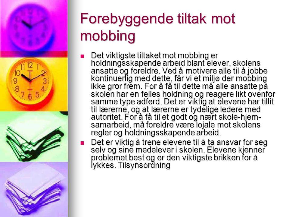 Forebyggende tiltak mot mobbing