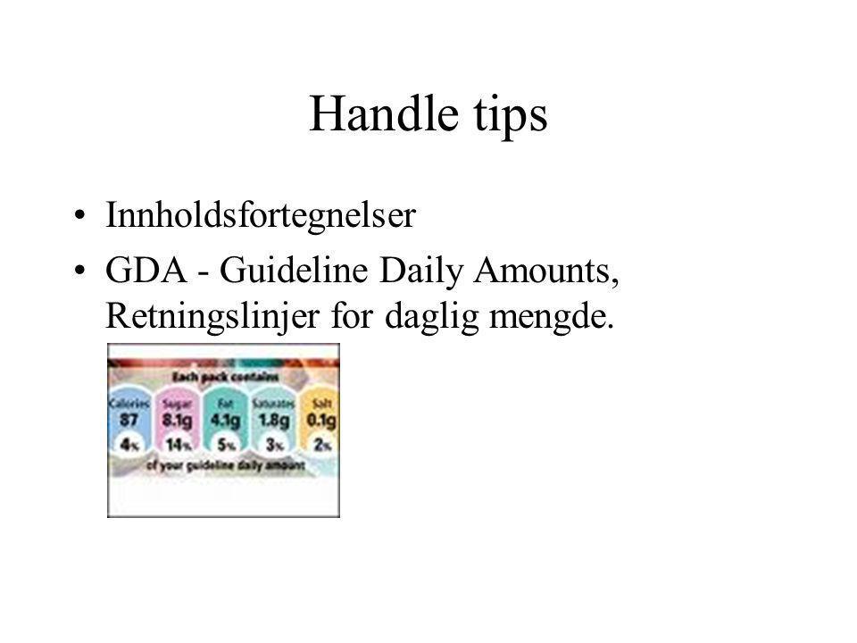 Handle tips Innholdsfortegnelser