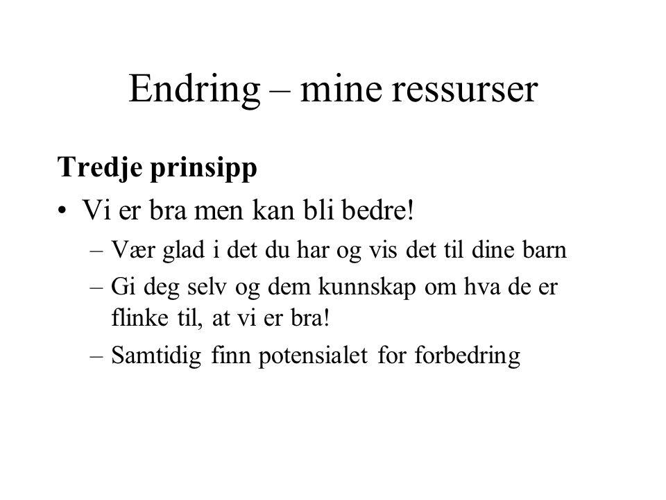 Endring – mine ressurser