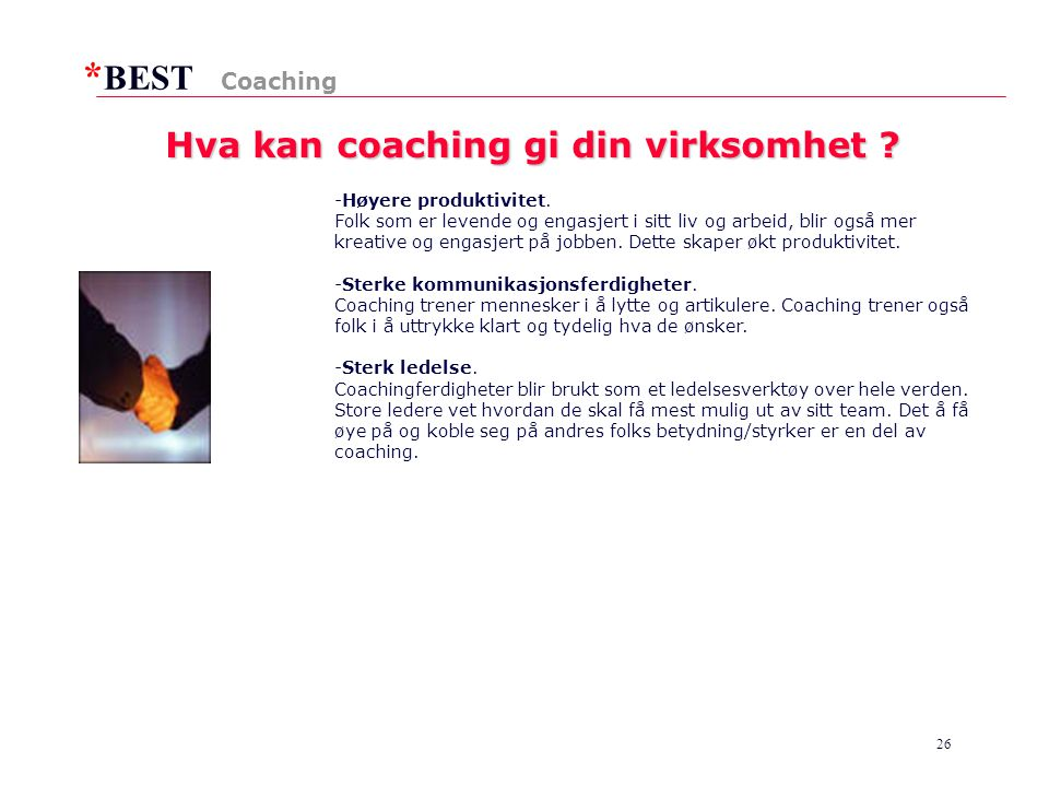 Hva kan coaching gi din virksomhet