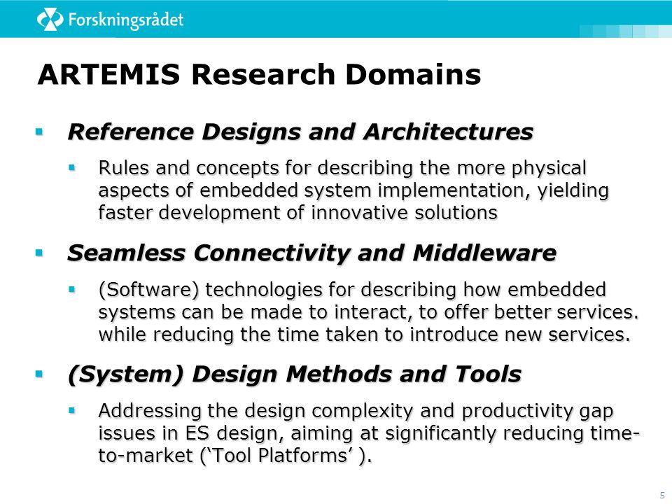 ARTEMIS Research Domains