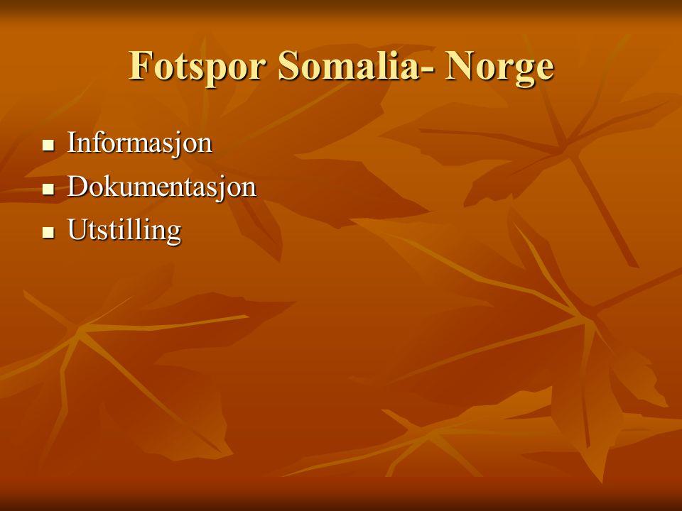 Fotspor Somalia- Norge