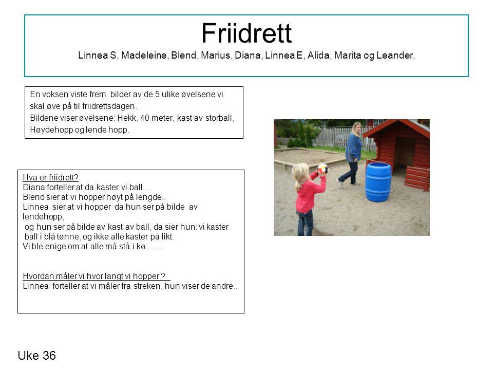 Friidrett Linnea S, Madeleine, Blend, Marius, Diana, Linnea E, Alida, Marita og Leander.
