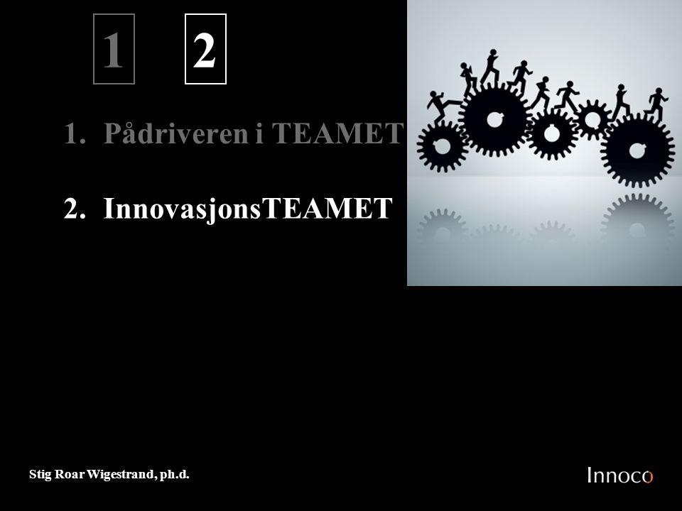 1 2 1. Pådriveren i TEAMET InnovasjonsTEAMET M 0