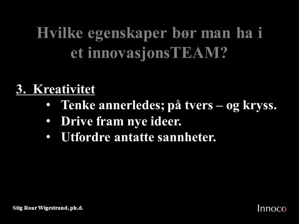 Hvilke egenskaper bør man ha i et innovasjonsTEAM