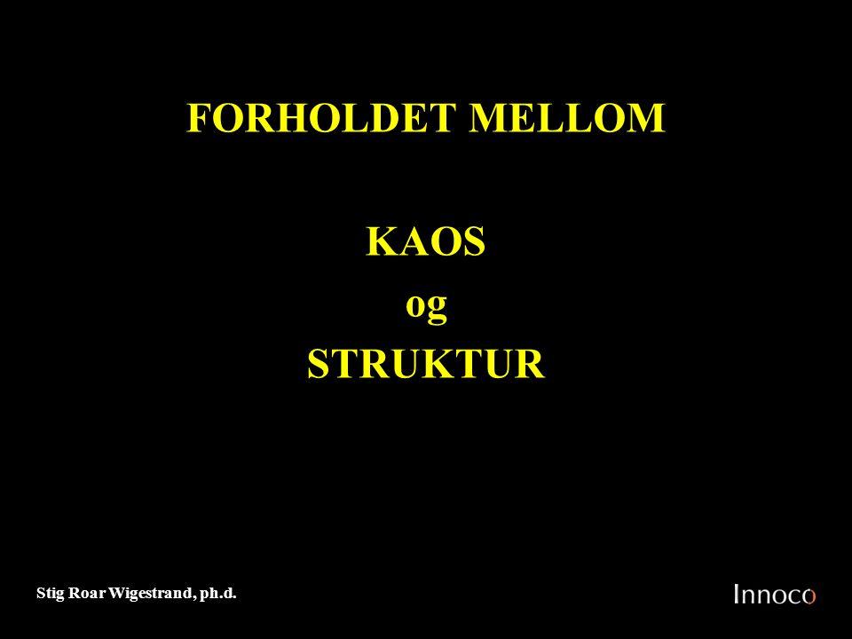 FORHOLDET MELLOM KAOS og STRUKTUR