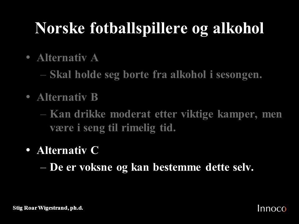 Norske fotballspillere og alkohol
