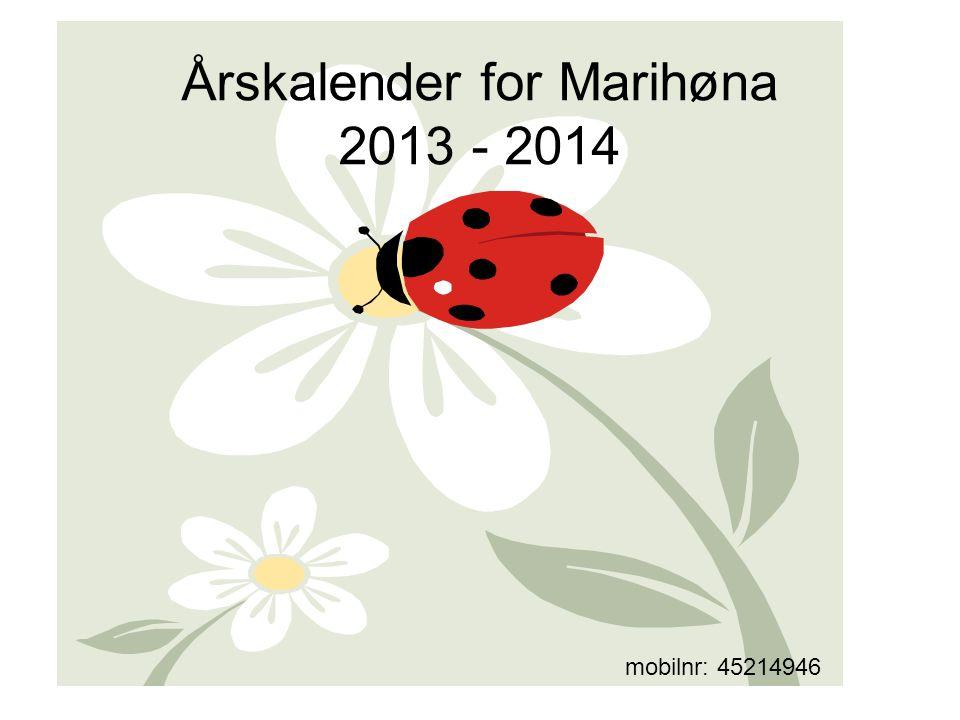 Årskalender for Marihøna 2013 - 2014