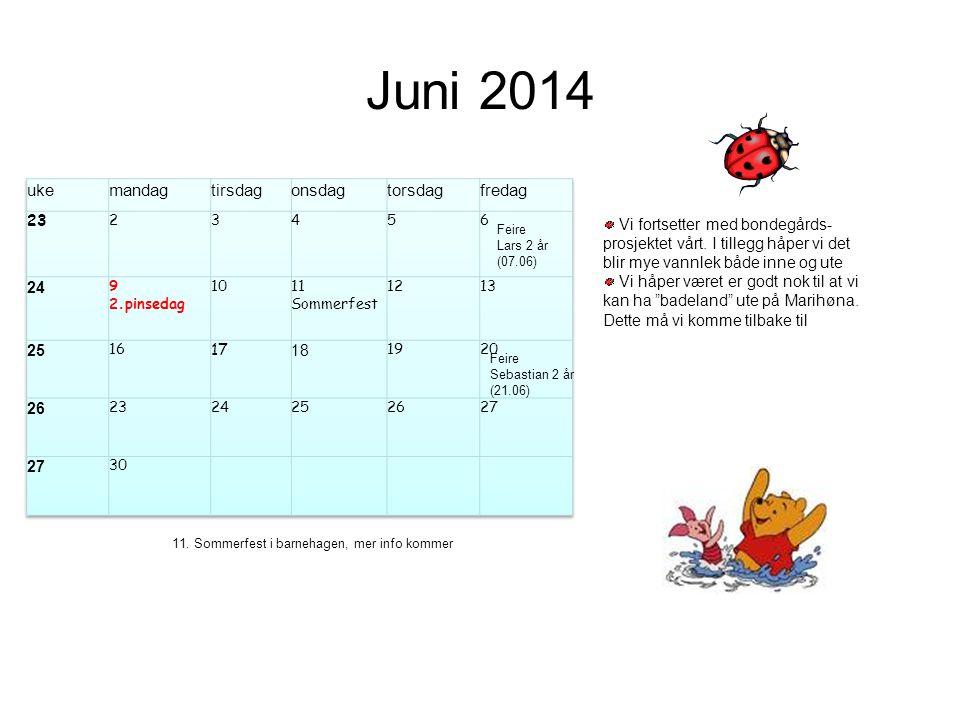 Juni 2014 uke mandag tirsdag onsdag torsdag fredag 23 24 25 17 18 26