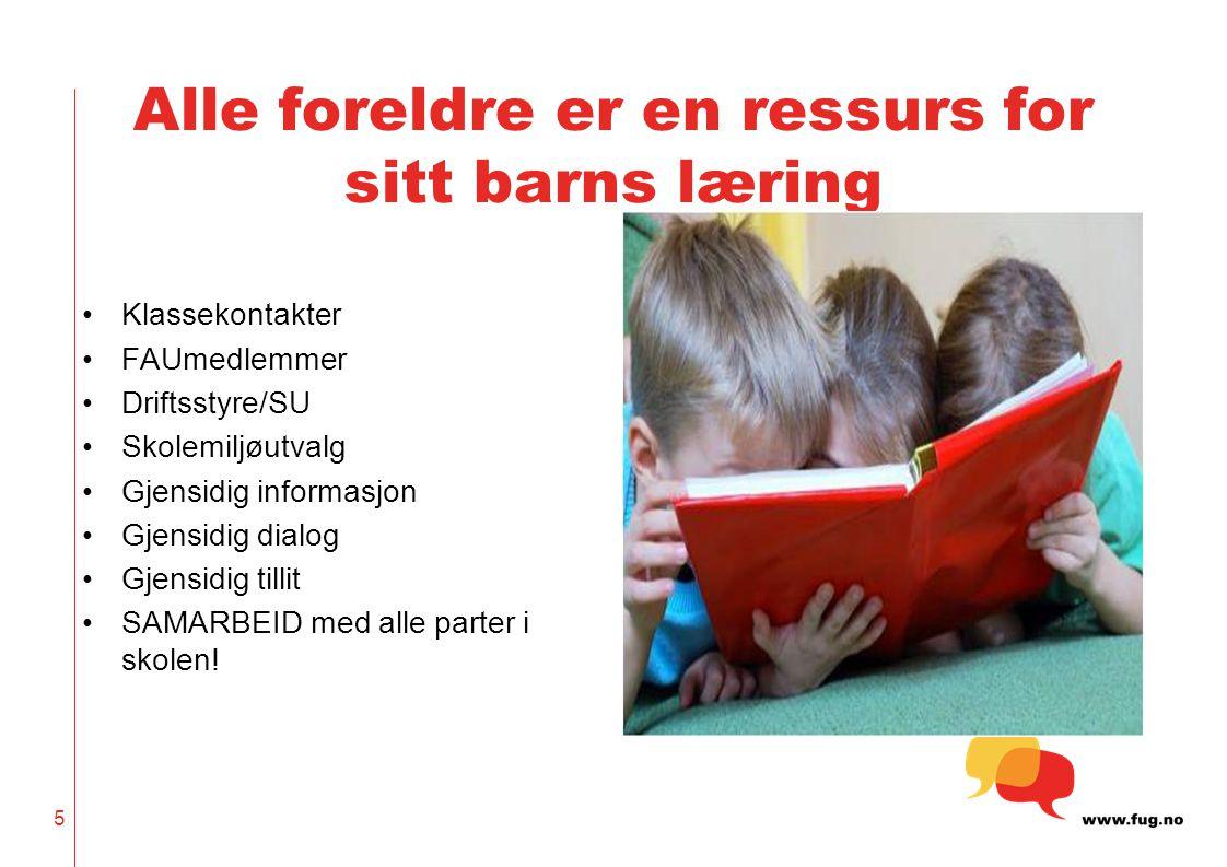 Alle foreldre er en ressurs for sitt barns læring