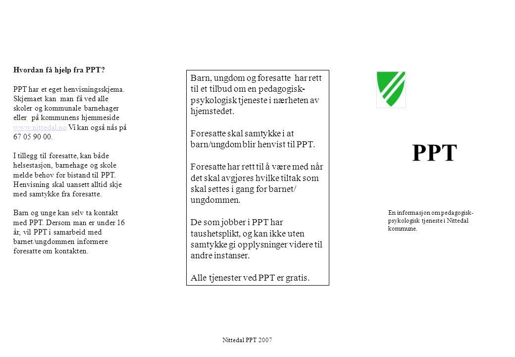 Hvordan få hjelp fra PPT