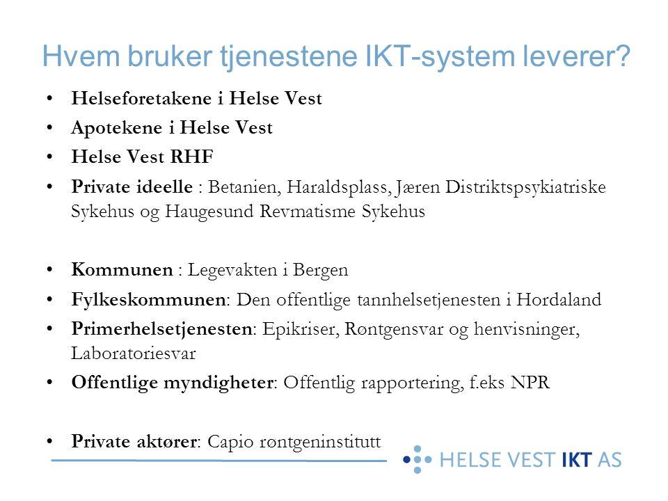 Hvem bruker tjenestene IKT-system leverer