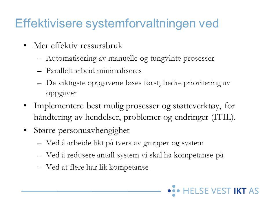 Effektivisere systemforvaltningen ved