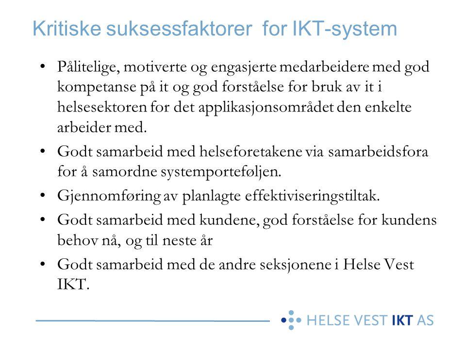 Kritiske suksessfaktorer for IKT-system