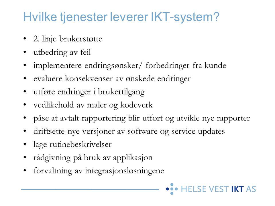 Hvilke tjenester leverer IKT-system