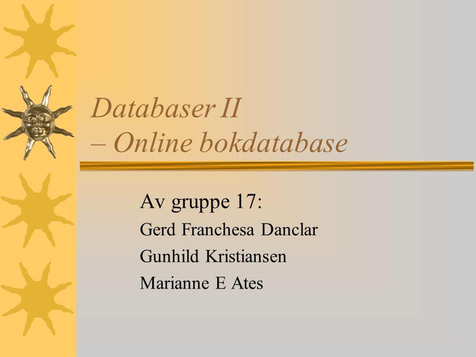 Databaser II – Online bokdatabase