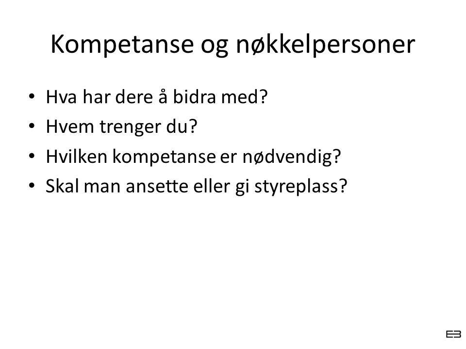 Kompetanse og nøkkelpersoner