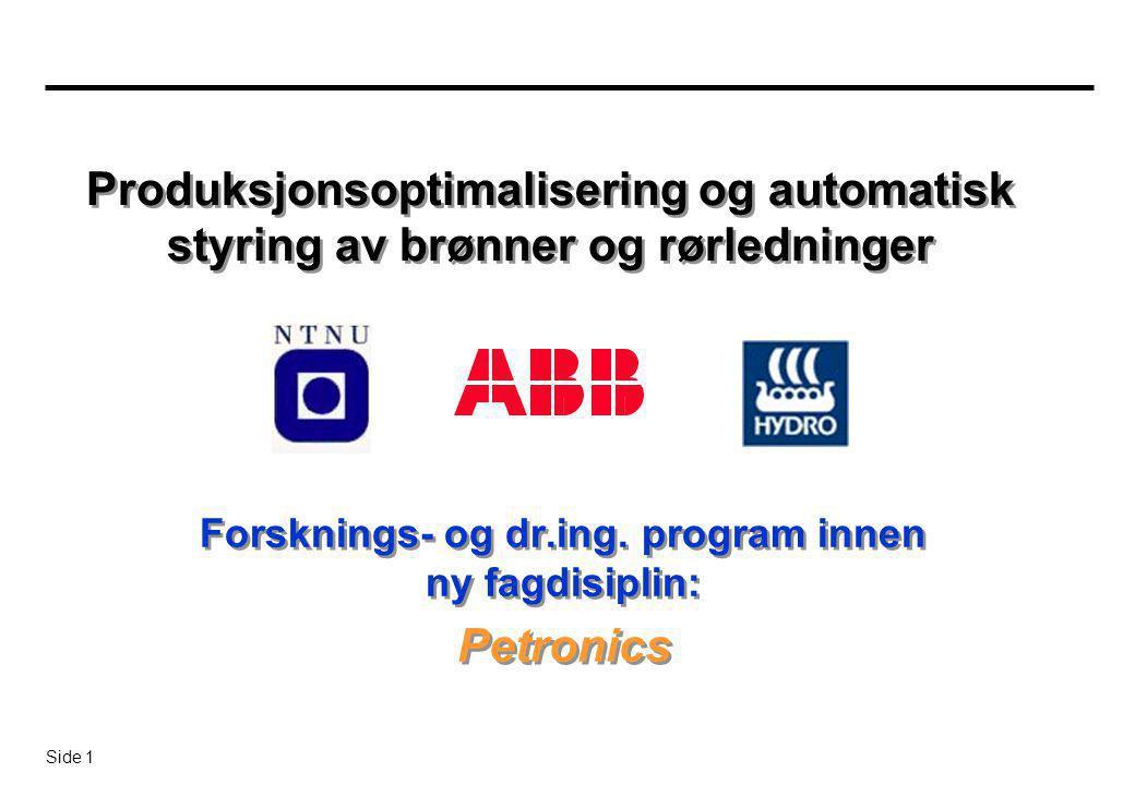 Forsknings- og dr.ing. program innen ny fagdisiplin: Petronics