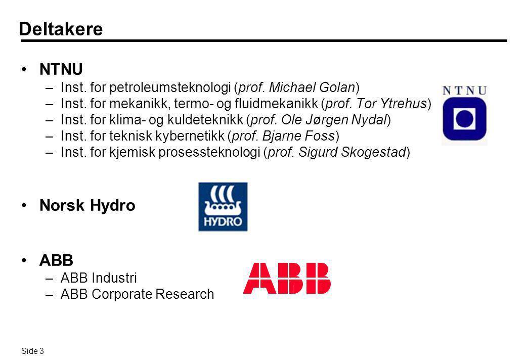 Deltakere NTNU Norsk Hydro ABB