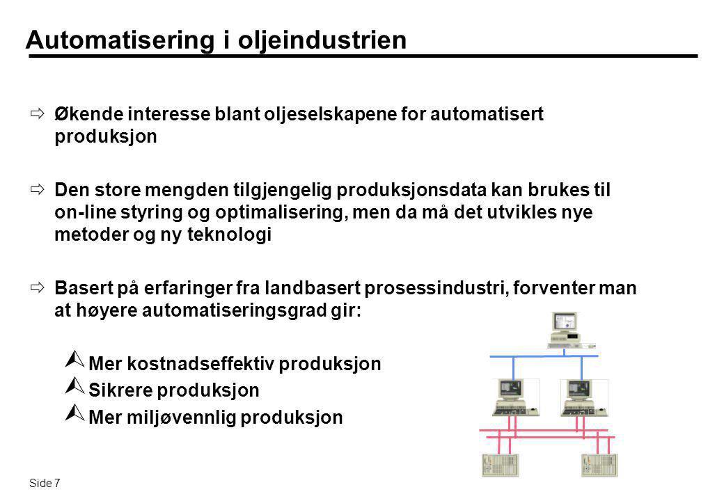 Automatisering i oljeindustrien