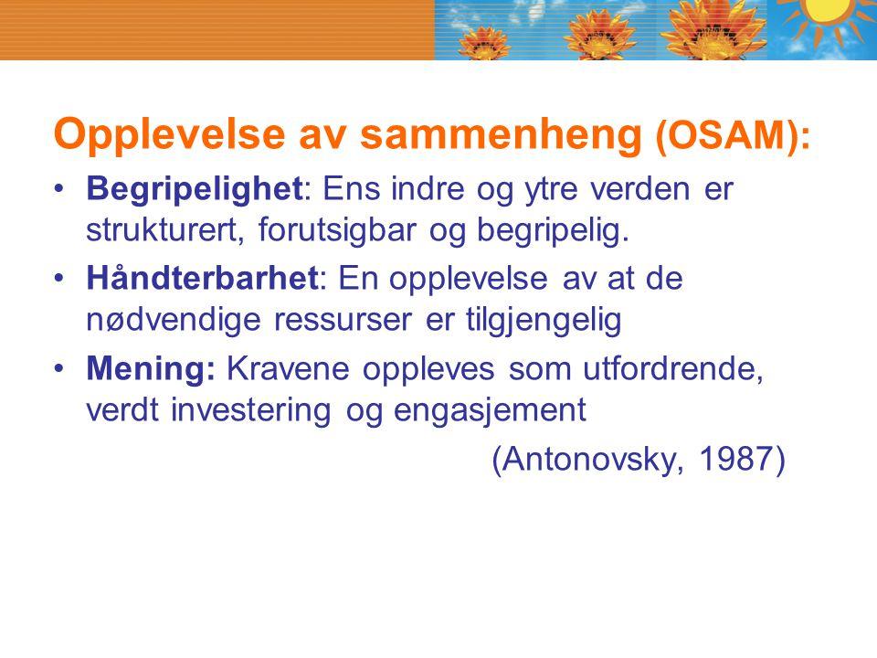 Opplevelse av sammenheng (OSAM):