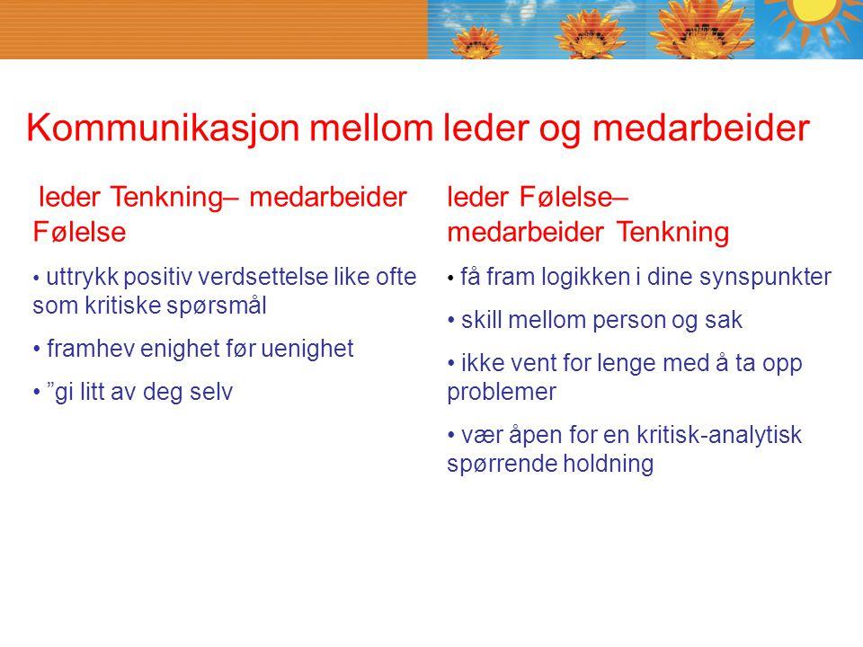 Kommunikasjon mellom leder og medarbeider