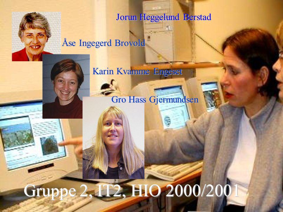Gruppe 2, IT2, HIO 2000/2001 Jorun Heggelund Berstad