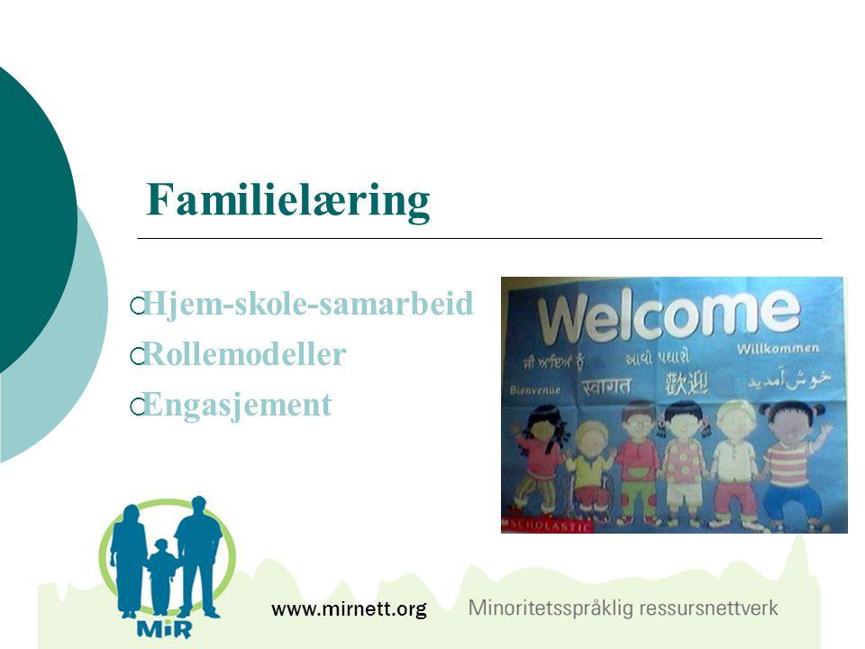 Hjem-skole-samarbeid Rollemodeller Engasjement