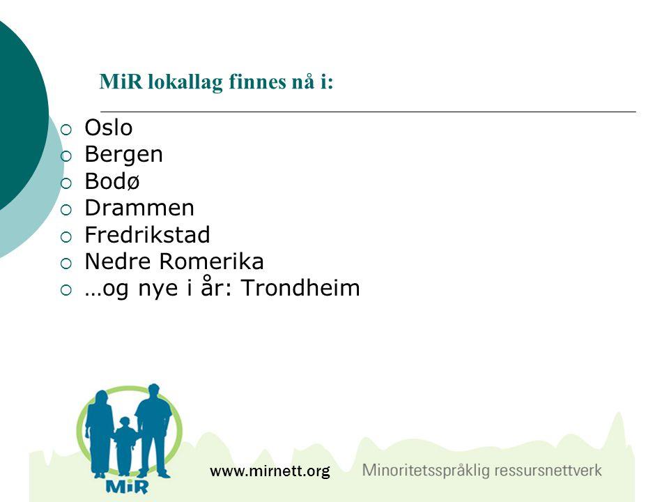 MiR lokallag finnes nå i: