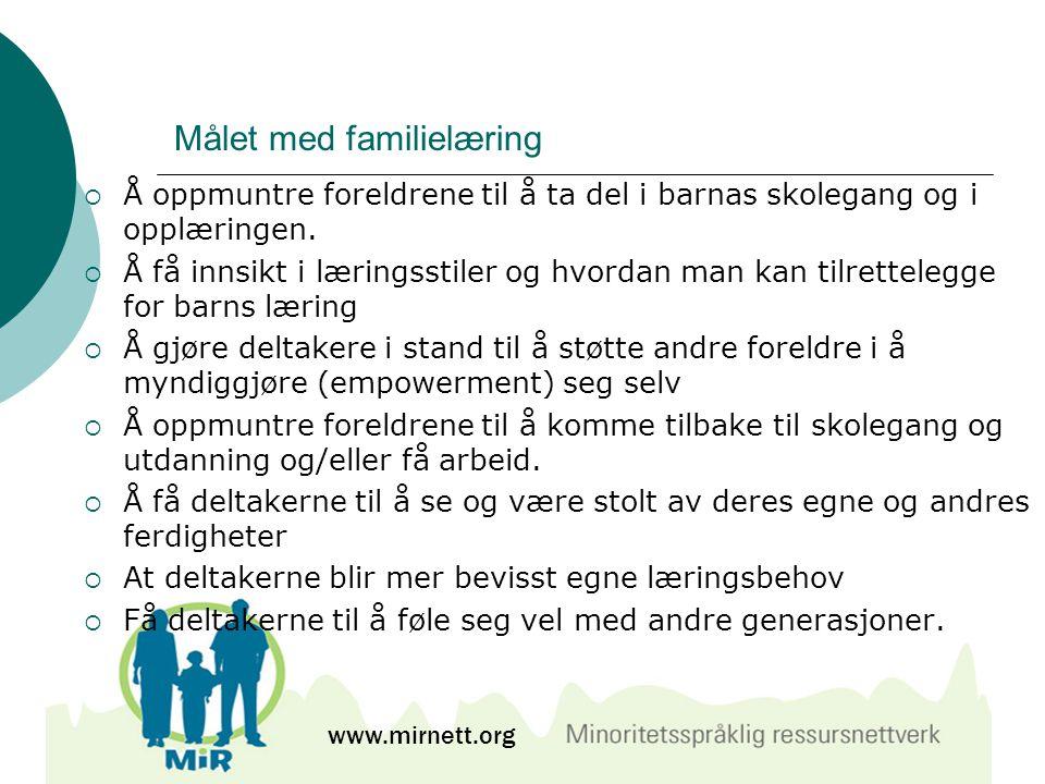 Målet med familielæring