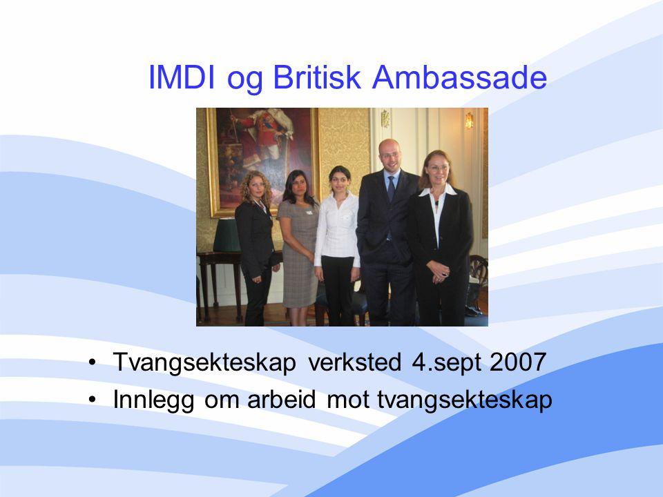 IMDI og Britisk Ambassade