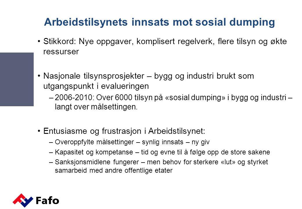 Arbeidstilsynets innsats mot sosial dumping