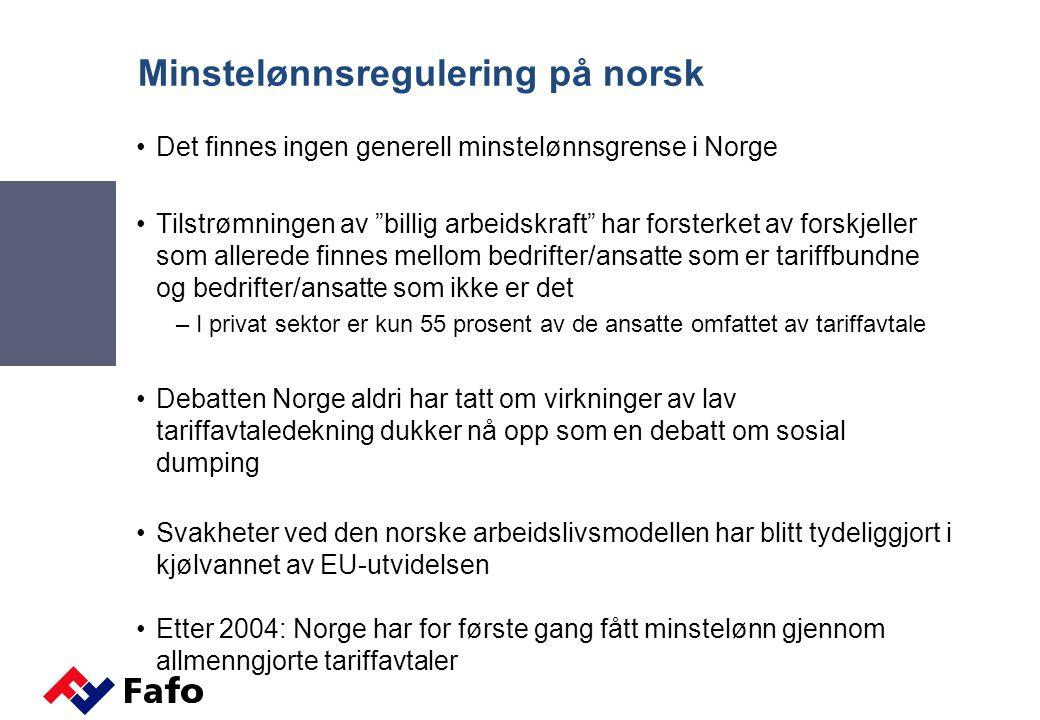 Minstelønnsregulering på norsk