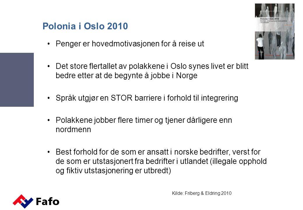 Polonia i Oslo 2010 Penger er hovedmotivasjonen for å reise ut